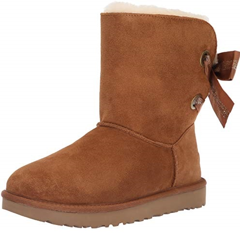 UGG Women's W Customizable Bailey Bow Short Fashion Boot, Chestnut, 5 M US, Only $66.98