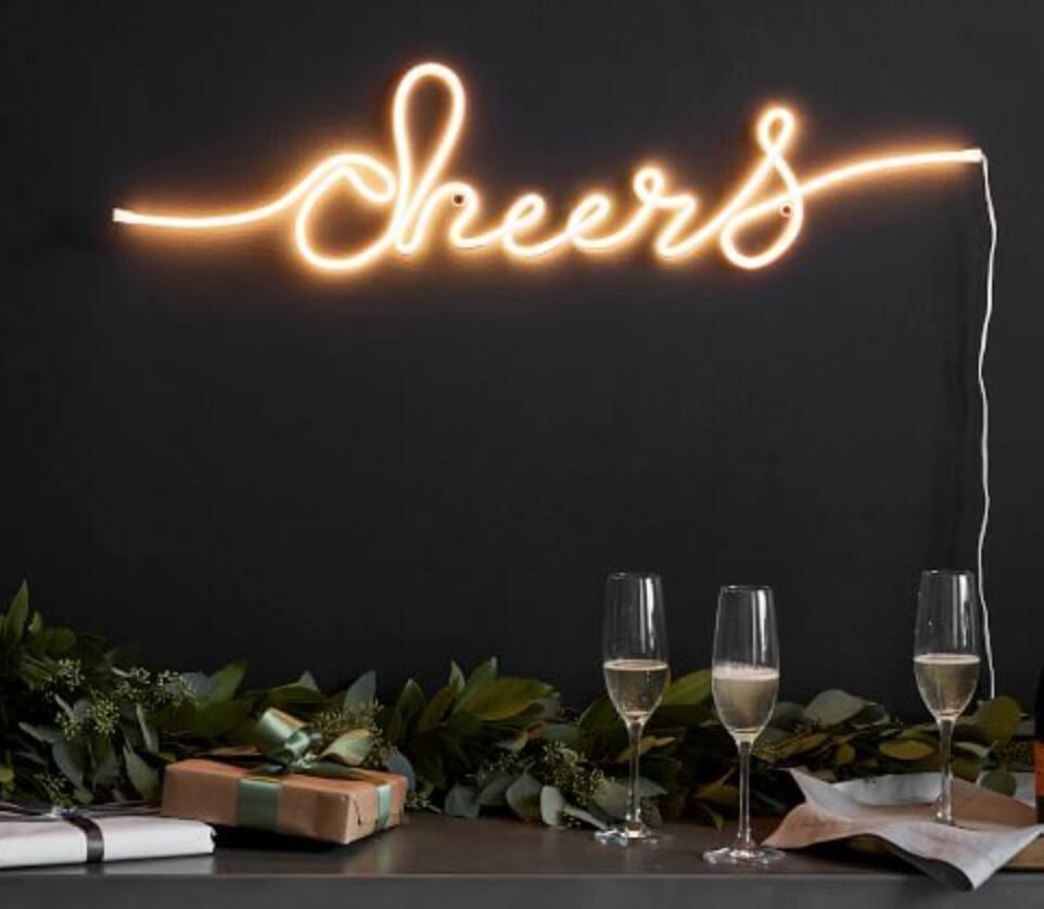 Pottery Barn Clearance: Hammered Nickel Snack Server $15, Cheers Sign