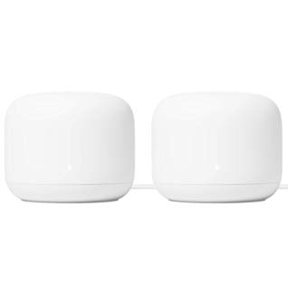 Google Nest WiFi Router 2 Pack – 4x4 AC2200 Mesh Wi-Fi Routers with 4400 sq ft Coverage