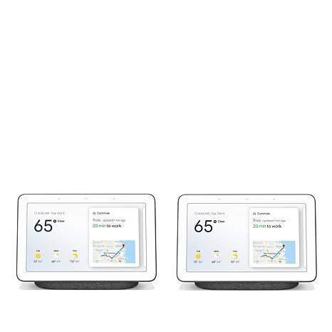 "2-Pack Google 7"" Nest Hub Smart Touchscreen Assistant"