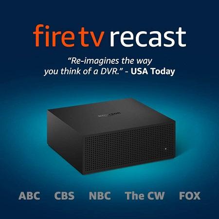 史低价!Fire TV Recast 电视节目录像机,500GB/75小时