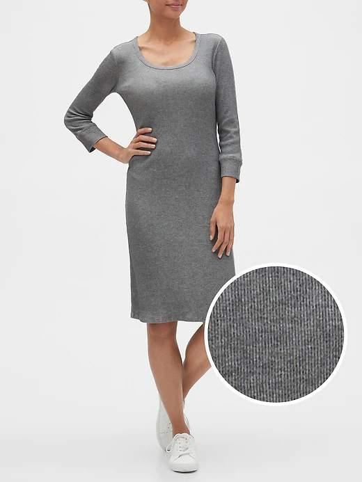 Gap Factory Extra 40% Off Clearance: Womens Three-Quarter Sleeve Scoopneck Dress