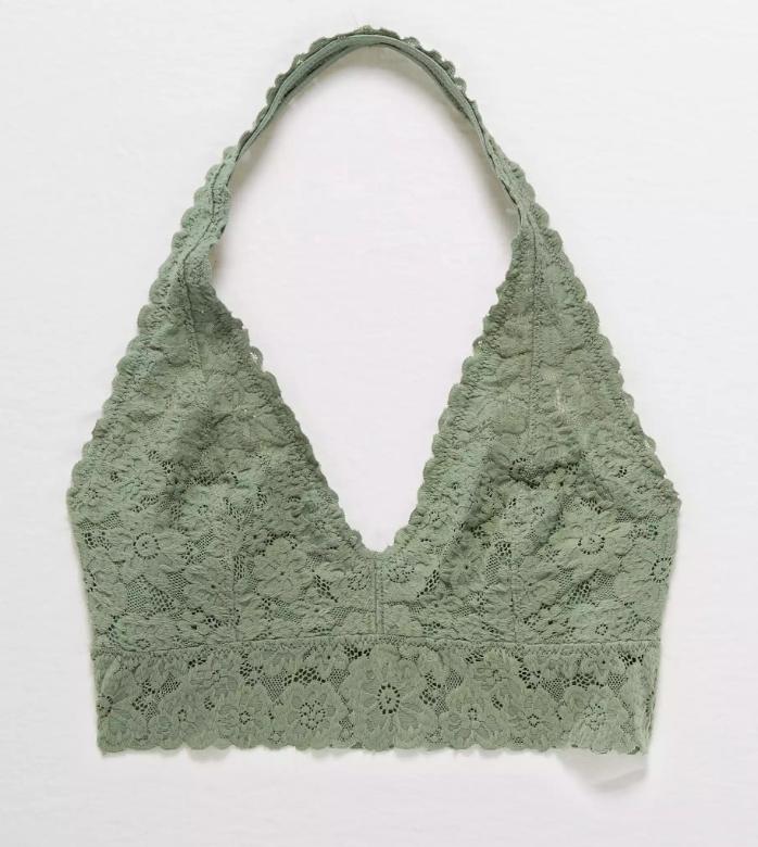 Aerie 50% Off Women's Bras & Bralettes: Softest Lace Halter Bralette