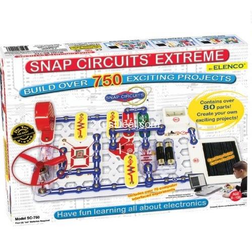 Snap电路拼接玩具SC-750终极版