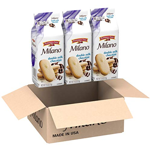 Pepperidge Farm, Milano, Cookies, Double Milk Chocolate, 7.5 Ounce (Pack of 3)
