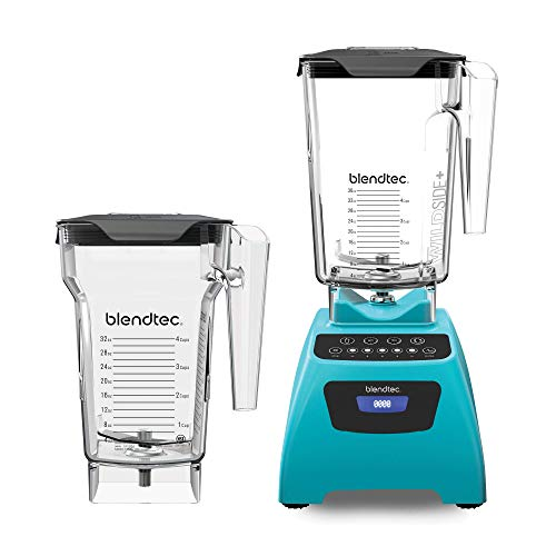 Blendtec Classic 575 Blender - WildSide+ Jar (90oz) and FourSide Jar (75 oz) BUNDLE - Professional-Grade Power - Self-Cleaning - 4 Pre-programmed Cycles - 5-Speeds - Caribbean $249.95