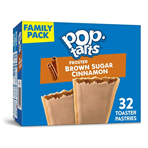 Kellogg's Pop-Tarts Frosted Brown Sugar Cinnamon - Toaster Pastries Breakfast for Kids, Family Pack (2 Count of 27 oz Boxes), 54.1 oz, Only  $7.00