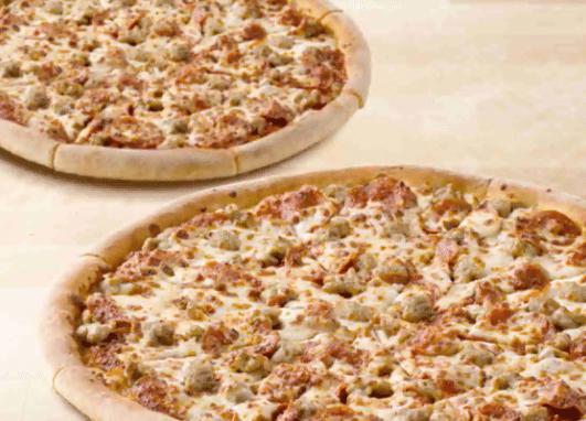 Papa John's Pizza: 2 Large 2-Topping Pizzas