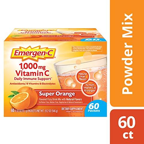 增强免疫力!Emergen-C 天然维生素冲剂VC 1000mg,60包