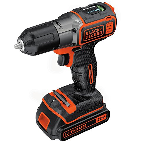 BLACK+DECKER BDCDE120C 20V MAX Lithium-Ion Drill/Driver with Autosense Technology, only $48.82, free shipping
