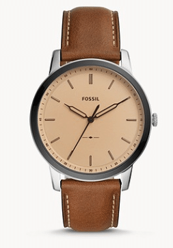 Fossil: 40% Off Sitewide: Men's The Minimalist Three-Hand Brown Leather Watch