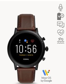 Fossil Carlyle Touchscreen Smartwatch (Gen 5, Brown)