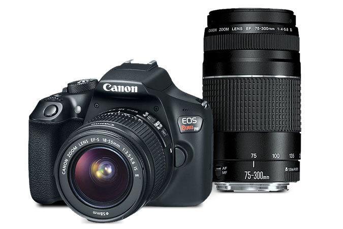 Canon Cameras (Refurb): EOS Rebel T6 EF-S 18-55 w/ EF 75-300mm f/4-5.6 III