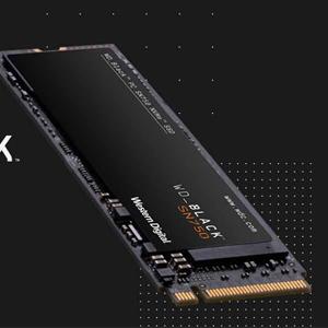 WD西部数据 SN750 黑盘 NVMe M.2 2280 1TB 固态硬盘