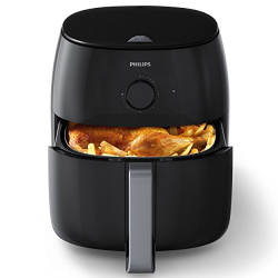 Philips HD9630/98 Avance Twin Turbostar Airfryer (3lb/4qt), XXL, Black XXL