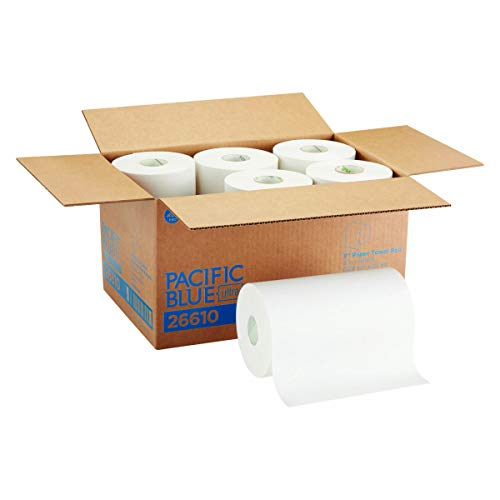 "Pacific Blue Ultra 9"" Paper Towel Roll (Previously Branded SofPull) by GP PRO (Georgia-Pacific), White, 26610, 400 Feet Per Roll, 6 Rolls Per Case"