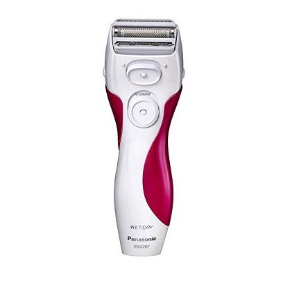 销售第一!Panasonic 松下ES2207P三刀头充电式干/湿两用女性除毛器