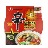 Nongshim韩国农心辛拉面12碗,3.03oz/碗
