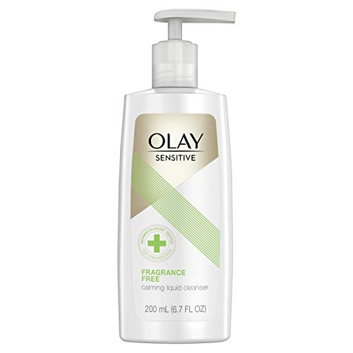 Olay Facial Cleanser for Sensitive Skin, Fragrance-free, 6.7 Fl Oz