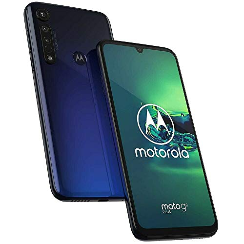 "Motorola Moto G8+ Plus (64GB, 4GB) 6.3"", 48 MP Camera, 4000mAh Battery, Dual SIM GSM Unlocked  T2019-2 - International Version (Blue, 64 GB) (PAGF0025SV)"