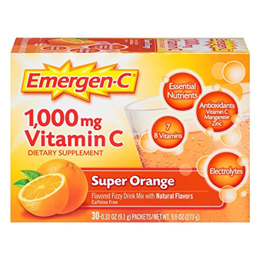 Emergen-C, Vitamin C 1000mg Pwdr Sup Orange, 30 Ct