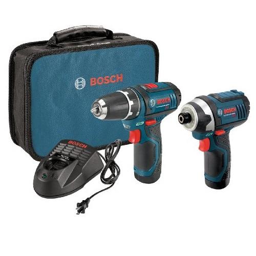 史低价!Bosch博世 12伏 锂电池电钻/冲击钻 带2个电池 套装