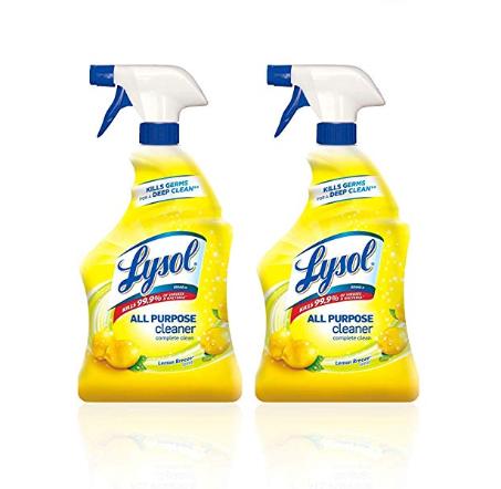 速抢!Lysol 多用途清洁剂,柠檬香味,32 oz/瓶,共2瓶 ,现售价