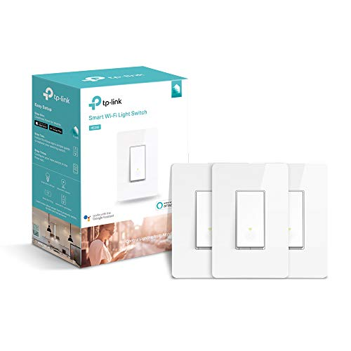 Kasa Smart WiFi Light Switch by TP-Link (3-Pack) Reliable WiFi Connection, Easy Installation Works with Alexa Echo & Google Assistant (HS200P3)