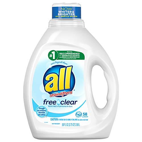 All 无香型 去渍洗衣液,敏感肌肤适用,88 oz