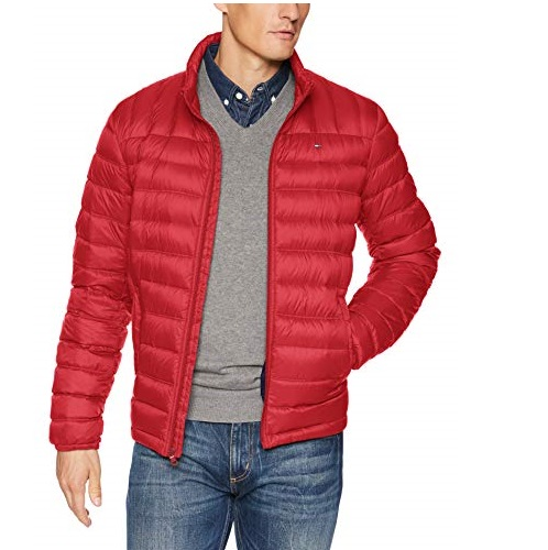 Tommy Hilfiger Men's Lightweight Water Resistant Packable Down Puffer Jacket (Standard and Big & Tall Sizes)
