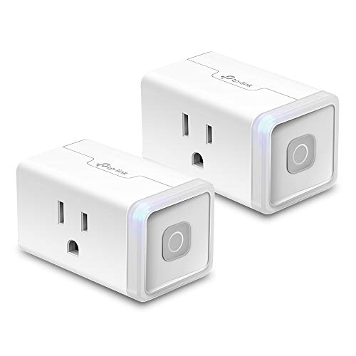 TP-LINK HS103P2 10 Amp Mini WiFi Smart Plug No Hub Required, Works with Alexa Echo & Google Assistant, 2-Pack, White