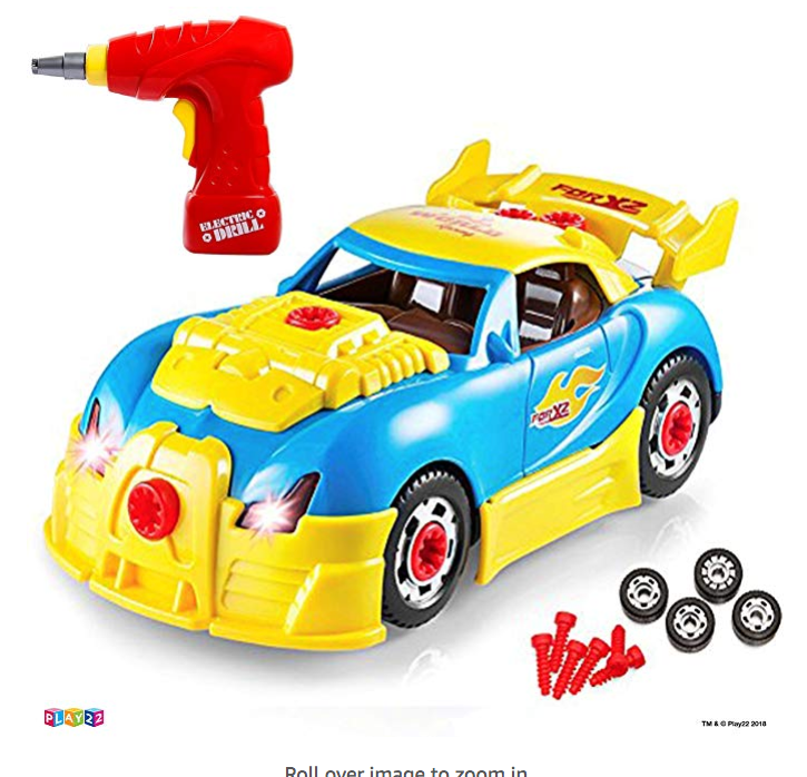 Take Apart Racing Car Toys Drill with Toy Tools for Kids - Newest Version - Original - by Play22 only $17.98