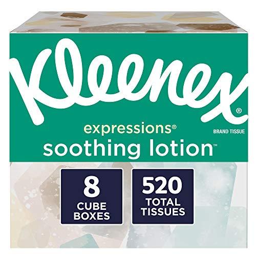 Kleenex  椰子油、芦荟、维生素E面巾纸湿巾,65片/包,共8包
