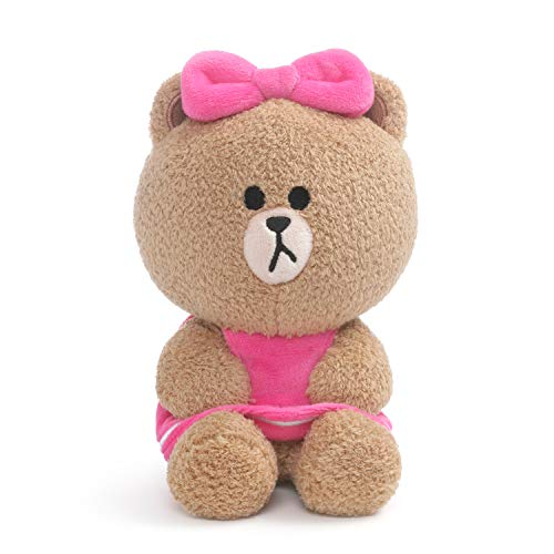 GUND Line Friends Choco Seated Plush Stuffed Animal Bear, Brown, 7""