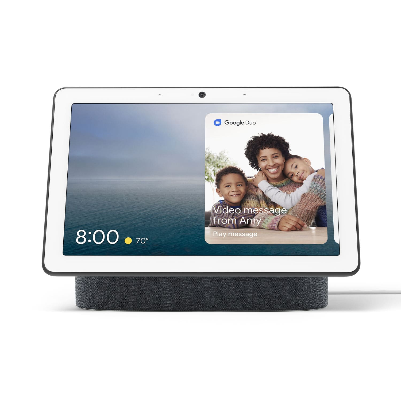 Google Nest Hub Max Smart Home Display (Charcoal) + Google Nest Mini (2nd Gen)