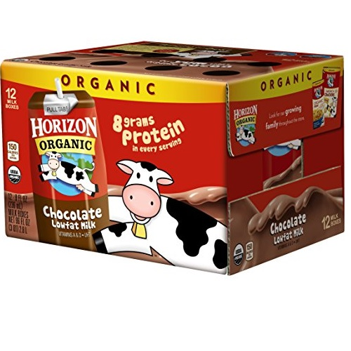 Horizon Organic UHT Chocolate with DHA Milk Boxes, 1% Single Serve, 8 Oz., 12 Count