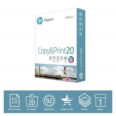 史低价!HP 惠普打印纸,500张