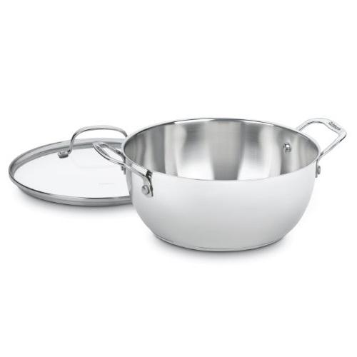 Cuisinart 755-26GD 5.5夸脱 不锈钢带盖平底锅