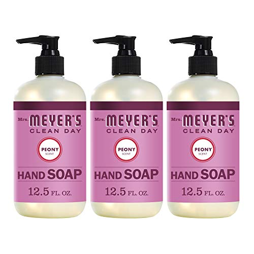 Mrs. Meyer's Clean Day Liquid Hand soap, Peony Scent, 12.5 Ounce Bottle (Pack of 3)