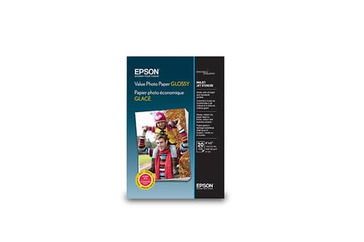 """Epson Photo Paper: 4"""" x 6"""" Value Photo Paper Glossy: 50-Sheets $3, 20-Sheets"""