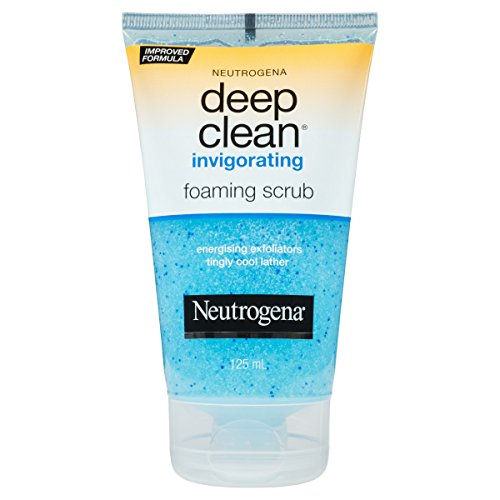Neutrogena Deep Clean Invigorating Foaming Face Scrub with Glycerin, Cooling & Exfoliating Face Wash to Remove Dirt, Oil & Makeup, 4.2 fl. oz, 4.2 fl. oz