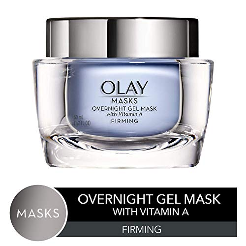 Face Mask Gel by Olay Masks, Overnight Facial Moisturizer with Vitamin A and Hyaluronic Acid for Firming Skin, 1.7 Fl Ounce