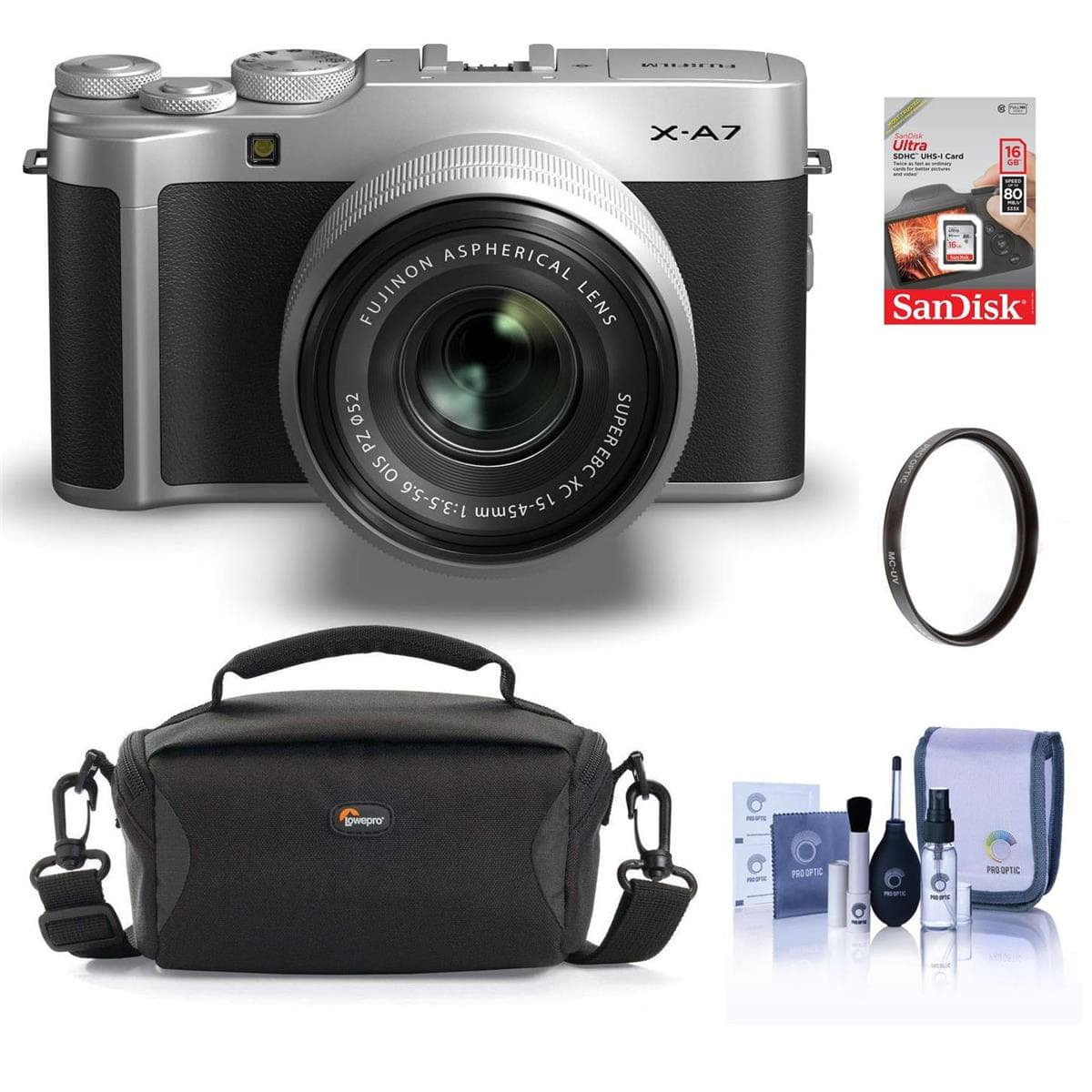 Fujifilm Mirrorless Digital Cameras: X-T200 (Body) $599, X-A7 w/ 15-45mm Lens