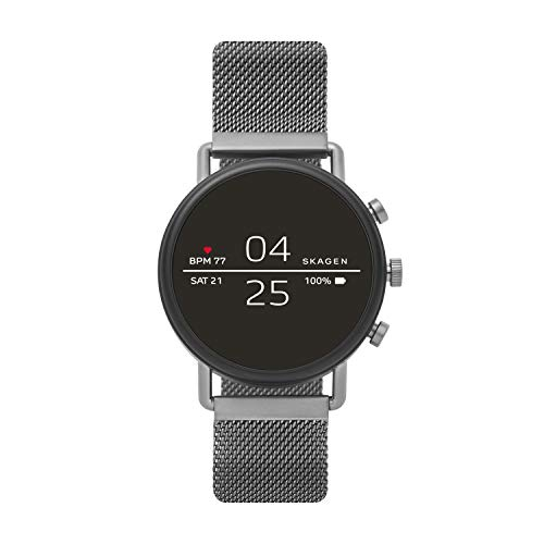 Skagen Skagen Connected Falster 2 Stainless Steel Touchscreen Smartwatch with Heart Rate, GPS, NFC, and Smartphone Notifications