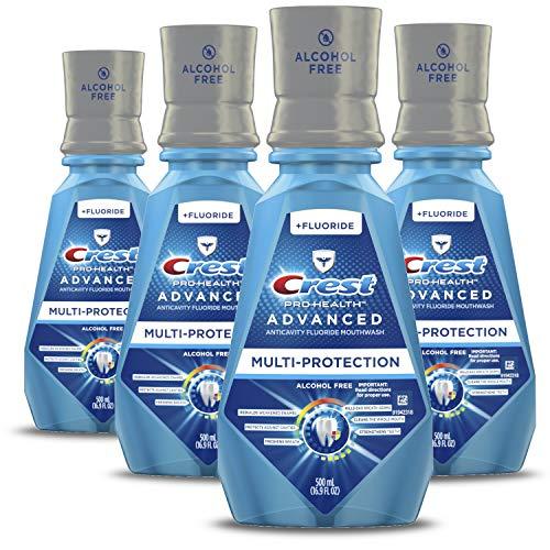 史低价! Crest Pro-Health 薄荷口味漱口水,500ML/瓶,共4瓶