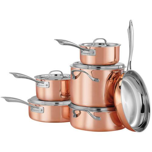 11-Piece Cuisinart Copper Tri-Ply Stainless Steel Cookware Set