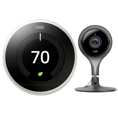 Google Nest Learning Thermostat (3rd Gen) + Nest Indoor Camera