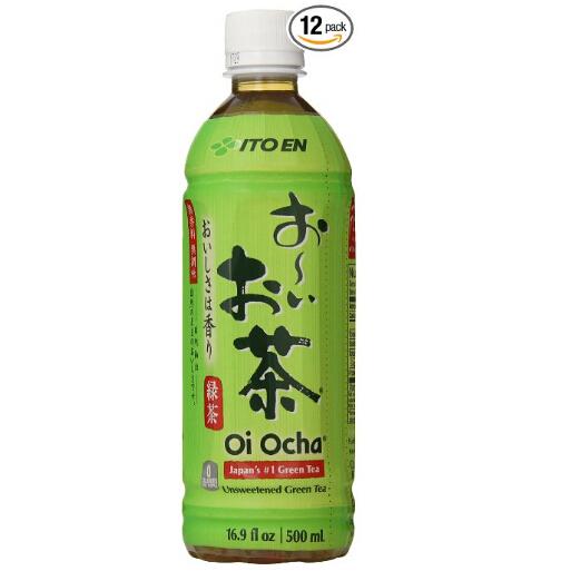 Ito En伊藤园茶饮料,无糖绿茶, 16.9 盎司,12瓶