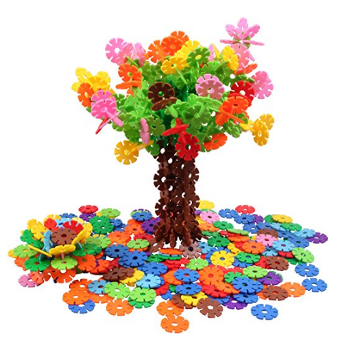 VIAHART Brain Flakes 500 Piece Interlocking Plastic Disc Set | A Creative and Educational Alternative to Building Blocks | Tested for Children's Safety