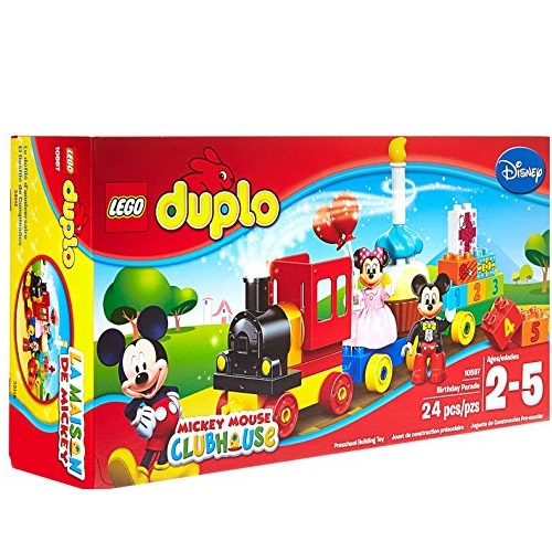 史低价!LEGO乐高 DUPLO系列 10597 米奇和米妮的生日游行火车积木